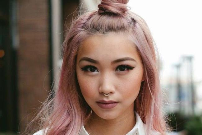 cabello tinturado, cabello, pelo, rosa cuarzo, pantone