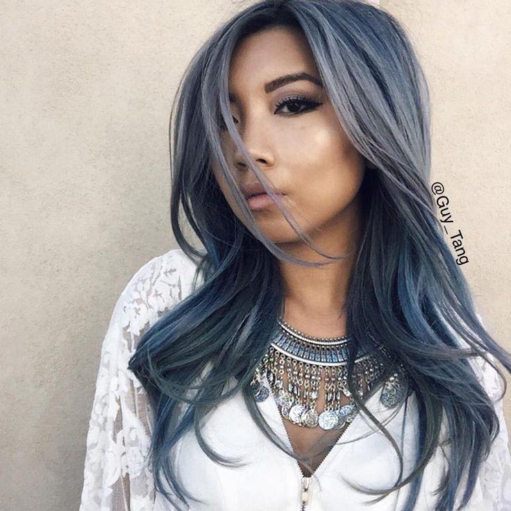 cabello tinturado, cabello, pelo,blue denim, pantone